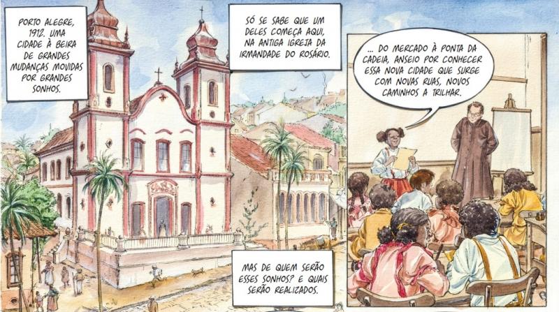 HQ 'Beco do Rosário' é um trabalho da arquiteta e ilustradora Ana Luiza Koehler