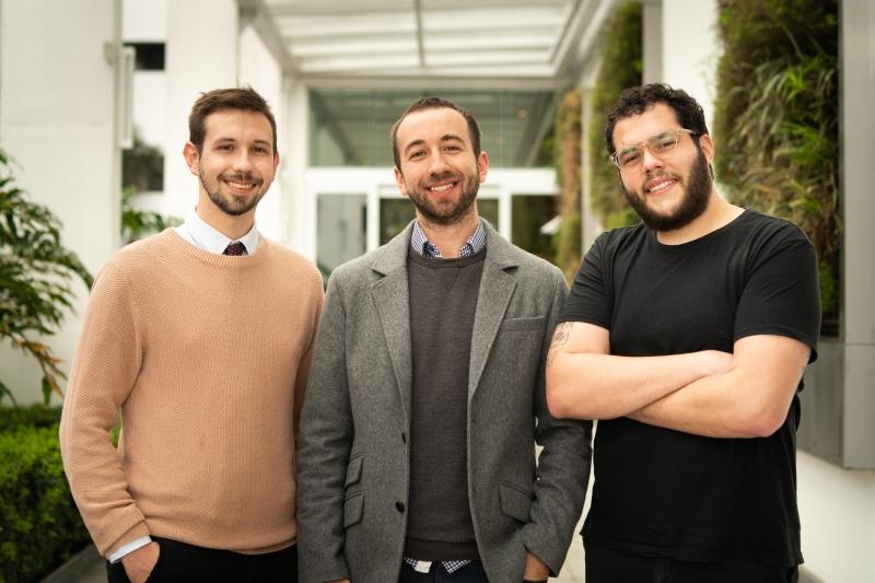 Augusto Caye, Arthur Caye e Gabriel Baron são os cofundadores da N1Office