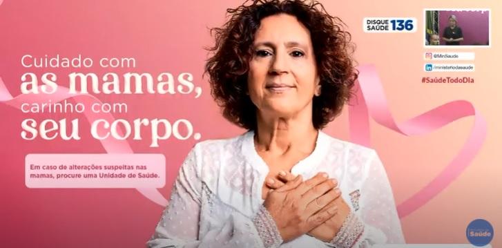 Ministério da Saúde lançou a campanha Outubro Rosa 2020, nesta quarta-feira (7), em transmissão ao vivo pelo YouTube