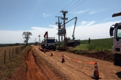 Cidades da região Noroeste recebem R$ 7,4 milhões em melhorias na rede elétrica