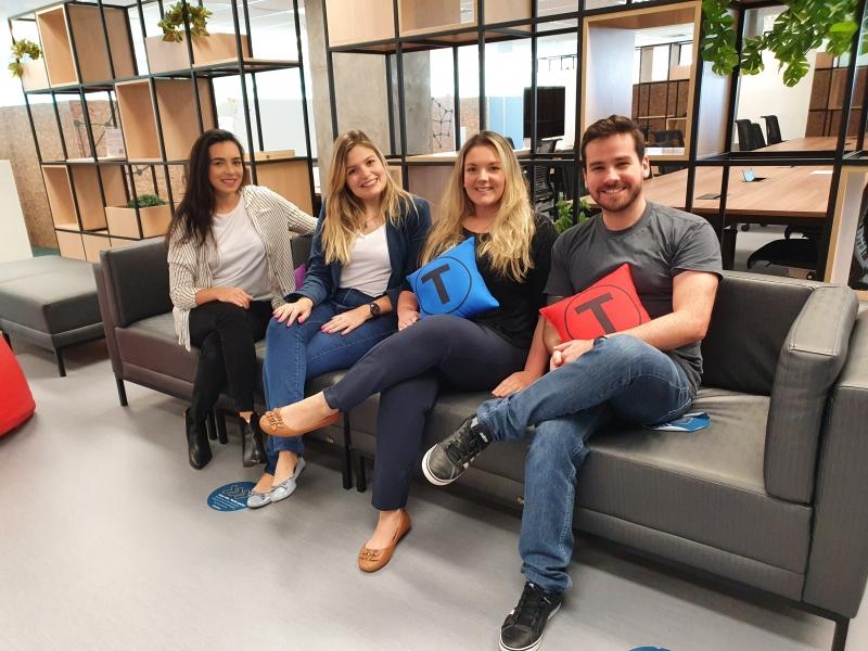 Gabriella Madruga, Daniela Lima Gomes, Alissa Zani e Rodrigo Mathias, da Localpass