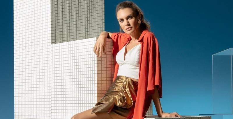 Marília Moreno na nova campanha da Vizzano