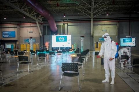 Porto Alegre tem primeiro evento-teste com participação de público