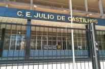 Escolas estaduais fechadas marcam volta às aulas no Rio Grande do Sul