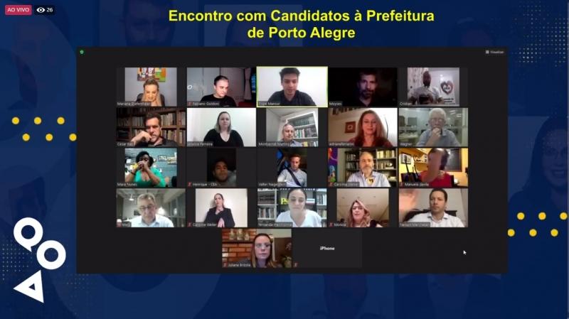 Encontro foi transmitido pela internet e reuniu 11 dos 13 postulantes ao Paço Municipal