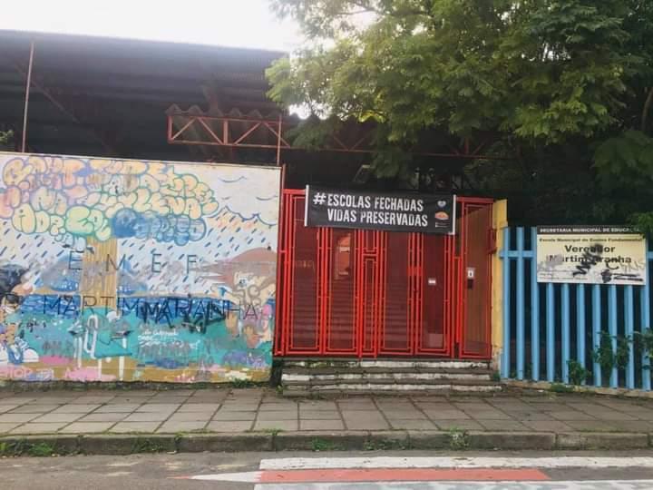Escola Vereador Martim Aranha, no bairro Sant Tereza, é uma das que não abriu aos alunos