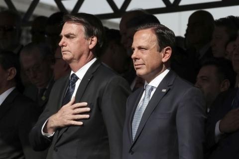 Bolsonaro acusa Doria de aumentar impostos na pandemia; governador reage