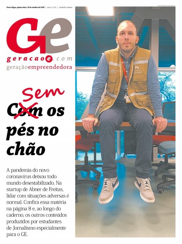 Capa do GeraçãoE do dia 29/10/2020. REPRODUÇÃO/JC