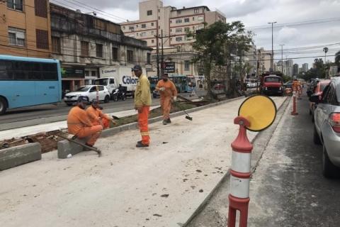 Corredor de ônibus da João Pessoa começa a ganhar nova cara