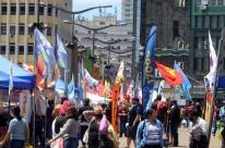 A campanha eleitoral no Largo Glênio Peres