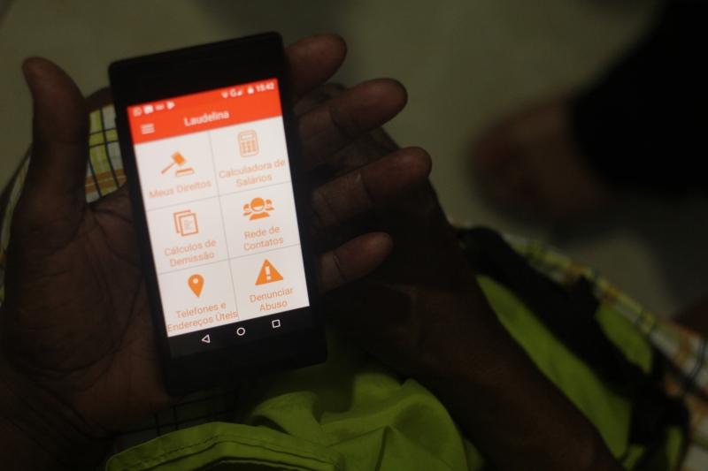 App Laudelina, da Themis, oferece informações úteis para a categoria