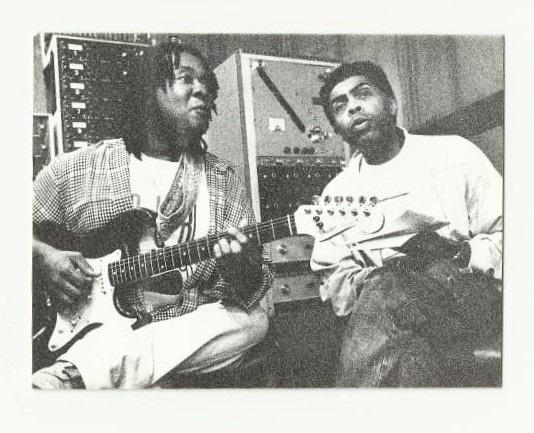 Com Gilberto Gil, nas gravações de Imagem das pedras