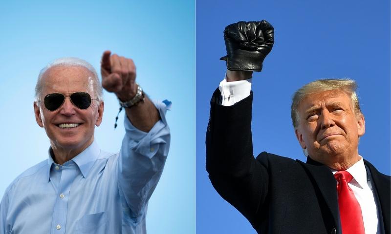 Disputa entre Biden (e) e Trump (d) segue indefinida