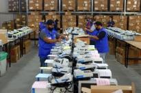 Urnas eletrônicas estão prontas para eleição