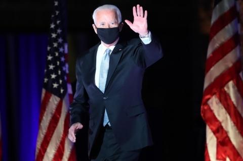 Em seu 1º discurso após vitória, Biden afirma que governará para todos os americanos