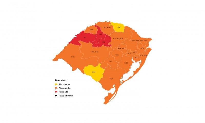 Estado está com três regiões consideradas como de risco epidemiológico alto: Cruz Alta, Ijuí e Santo Ângelo