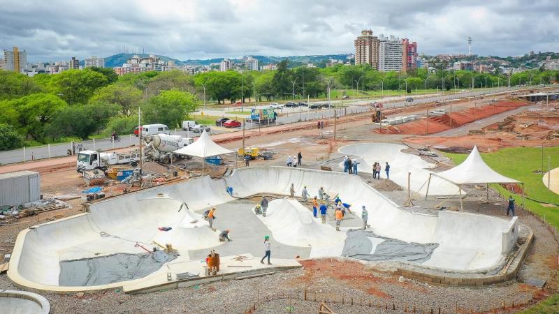 Obra tem 75% dos serviços concluídos e será a maior pista da América Latina