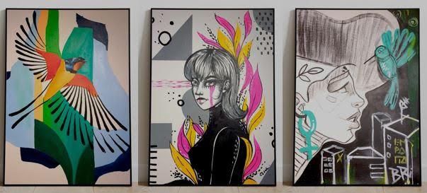 Obras de Tiago Berao, Ane Schütz e Bruna Rison concorrem no evento que une pintura e música