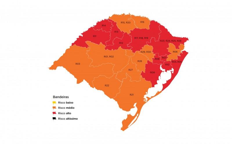 Indicadores da pandemia voltaram à preocupar no Estado, com maior parte das regiões em alto risco