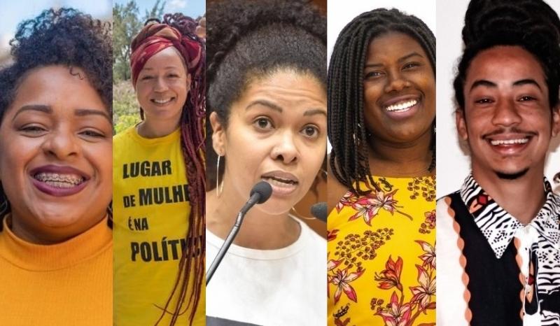 Cinco candidatos negros estão eleitos, dentre eles Karen Santos (c), a vereadora mais votada