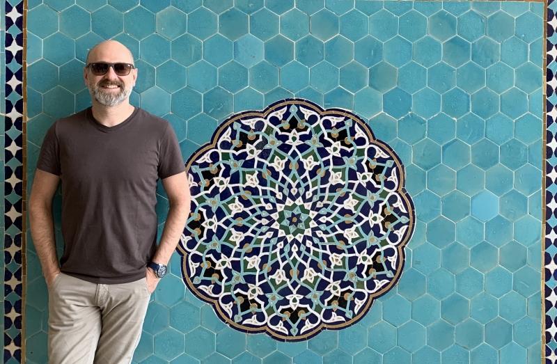 Diretor do espaço, professor Tiago Halewicz esteve no país em 2019 visitando mesquitas e palácios