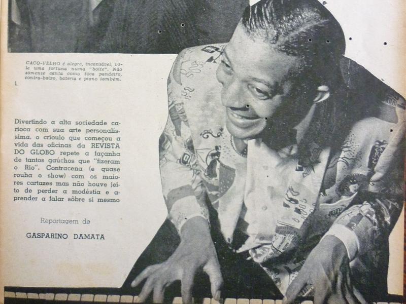 Em novembro de 1955, Revista do Globo estampou nas páginas uma matéria especial sobre o performer