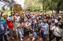 Melo participa de ato de repúdio ao racismo no Centro de Porto Alegre