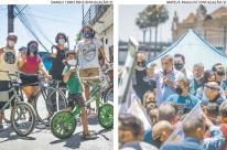Manuela e Melo apostam na mobilização de rua em Porto Alegre
