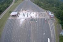 Obras de desmonte em pedágio antigo da Freeway estão 80% concluídas