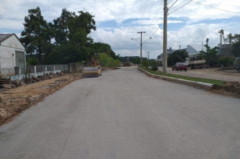 Trecho urbano da ERS-149, em Formigueiro, está em pavimentação