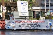 Profissionais da Saúde protestam em frente ao São Lucas por reposição salarial