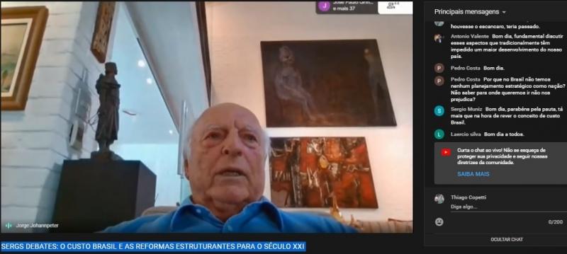 Empresário preside Movimento Brasil Competitivo e abriu debate on line da Sociedade de Engenharia