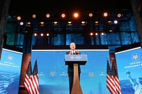 Reconhecido presidente dos EUA pelo Colégio Eleitoral, Biden discursa pela primeira vez