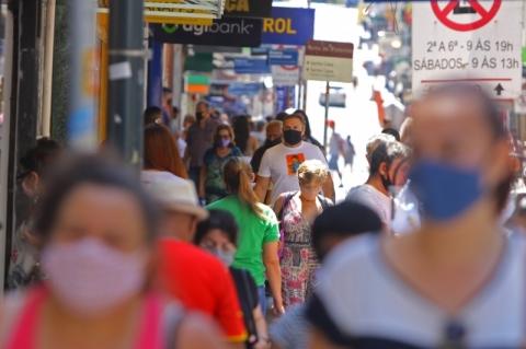 Rio Grande do Sul tem mais de 95% da população em alto risco no mapa preliminar