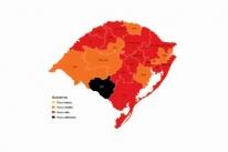 Mapa da pandemia tem uma bandeira preta no Rio Grande do Sul