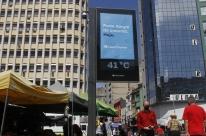 Termômetro de rua em Porto Alegre registra 41ºC nesta segunda-feira
