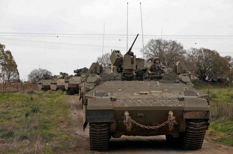 Tropas israelenses realizaram movimentos nas Colinas de Golã, fronteira com a Síria, nesta quarta-feira