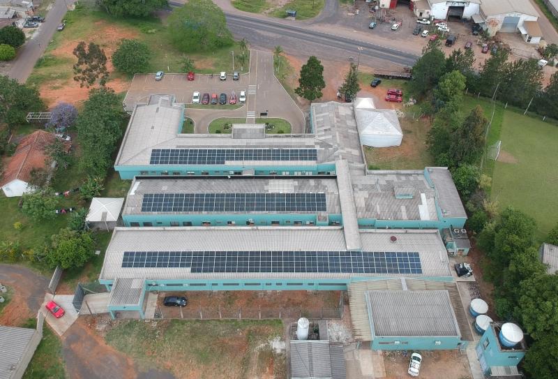 Projeto gera 2/3 da demanda elétrica da casa de saúde encruzilhadense