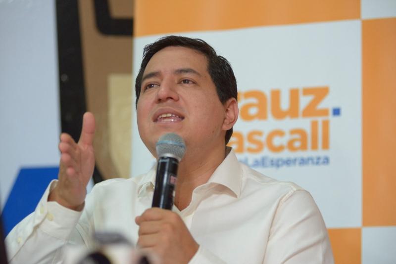 Andrés Arauz venceu o primeiro turno com 32,7% dos votos