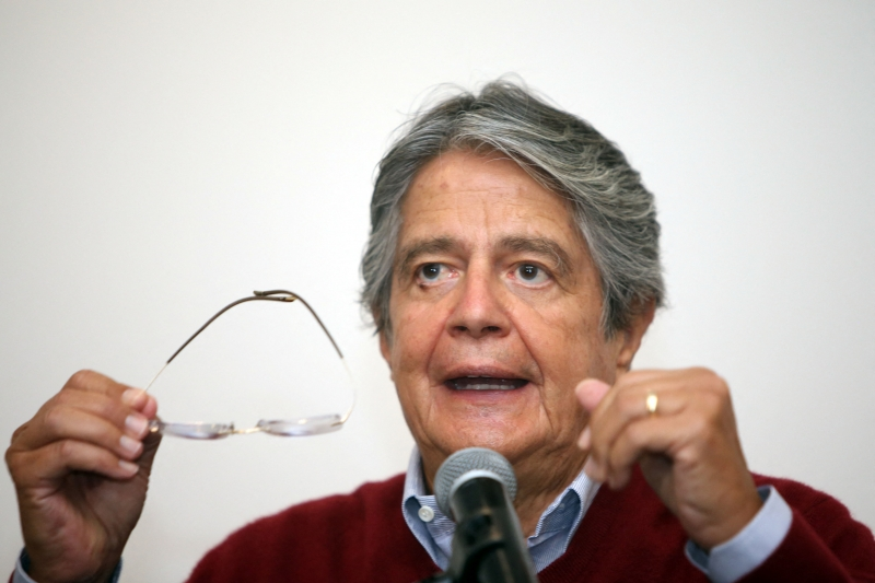 Lasso disputará a presidência do Equador no segundo turno no dia 11 de abril contra o candidato de esquerda Andrés Arauz
