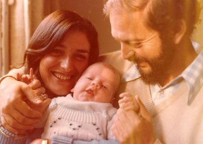 Judith e Moacyr com o filho Roberto, nascido em 1979