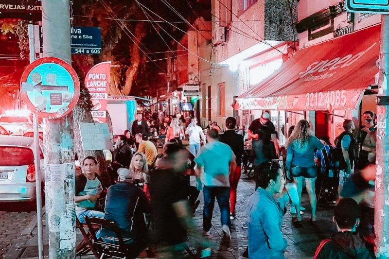 Um dos bairros que registrou grande movimentação foi a Cidade Baixa