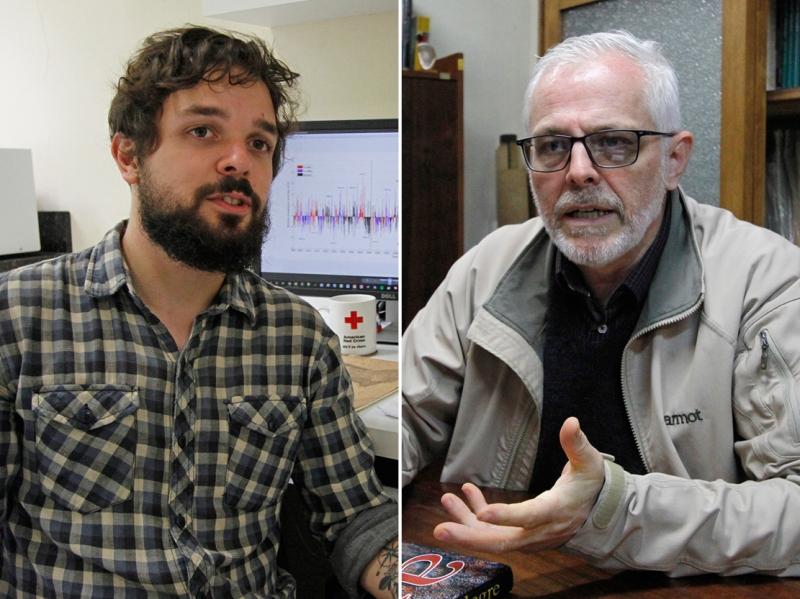 Pedro Valente (e) Rualdo Menegat citam motivos que fizeram nível do Guaíba quase duplicar na época