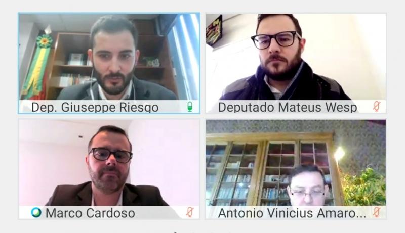 Em audiência virtual, deputado Giuseppe Riesgo (Novo) questionou a continuidade da manutenção das alíquotas majoradas