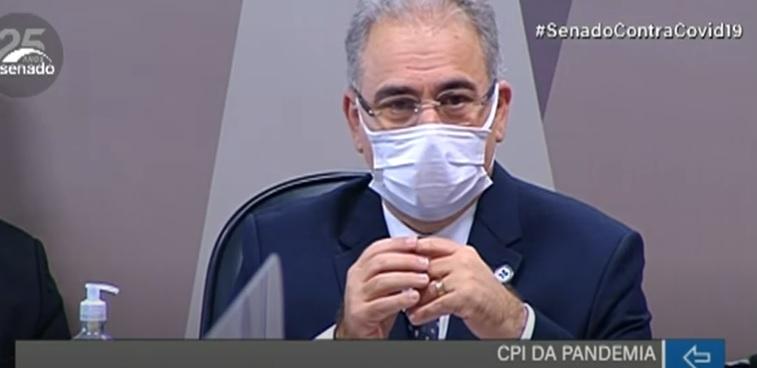 Queiroga já havia sido escutado pelos senadores na CPI anteriormente, no dia 6 de maio