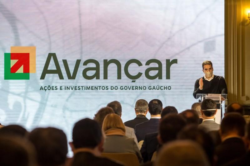 Governador Eduardo Leite fez o anúncio do programa Avançar nesta quarta-feira (9) no Palácio Piratini