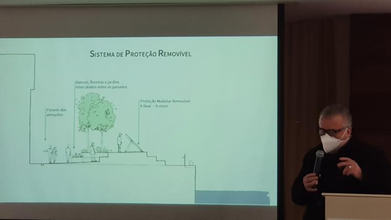 Arquiteto Renato Dal Pian detalhou a proposta em workshop realizado em Porto Alegre