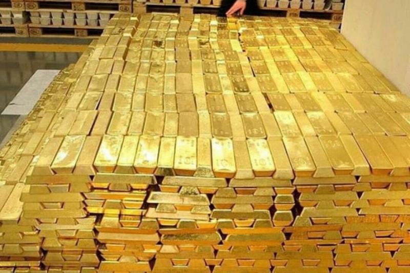 O ouro com entrega prevista para setembro encerrou a sessão com perda de 0,44%, a US$ 1.803,40 a onça-troy