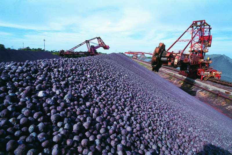 Já as vendas de minério de ferro em 2017 registraram leve recuo de 0,7%