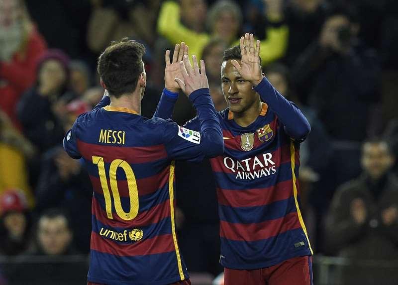 Em 2015, Neymar, Messi e Suarez formaram o trio 'MSN', campeão da Champions naquela temporada